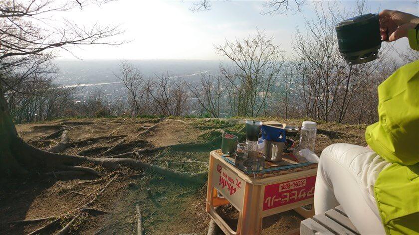 「南パノラマ展望台」で、コーヒーを愉しむ