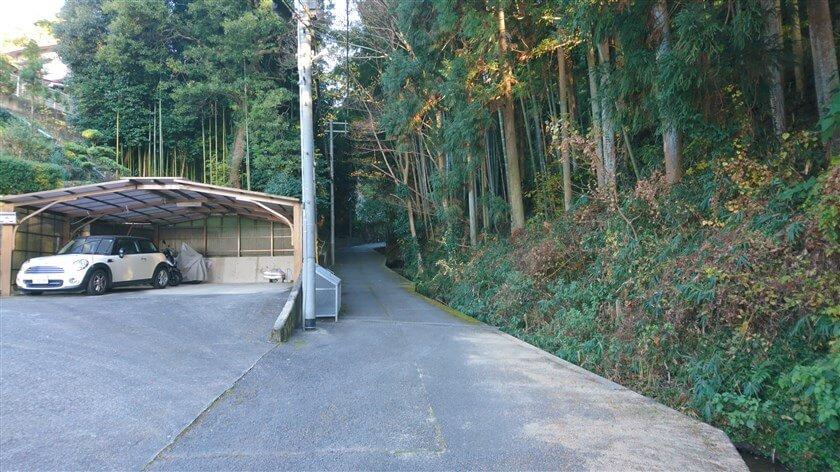 恩智神社の横辺り