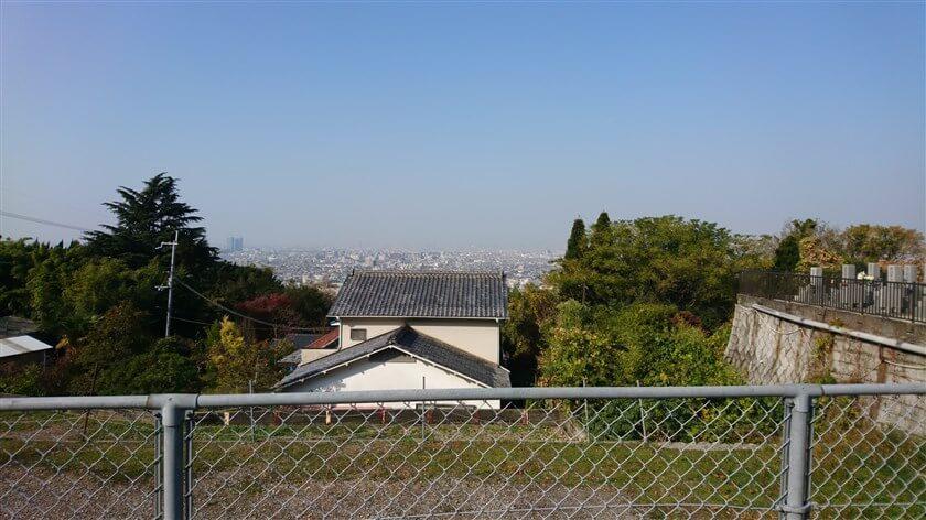「法蔵寺」の駐車場からの眺め