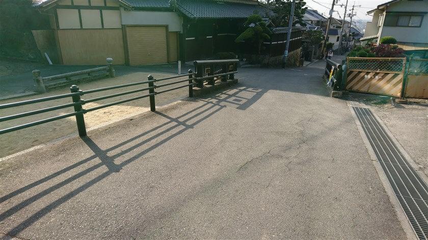 恩智神社の登り口にある、共和橋に降りてきた