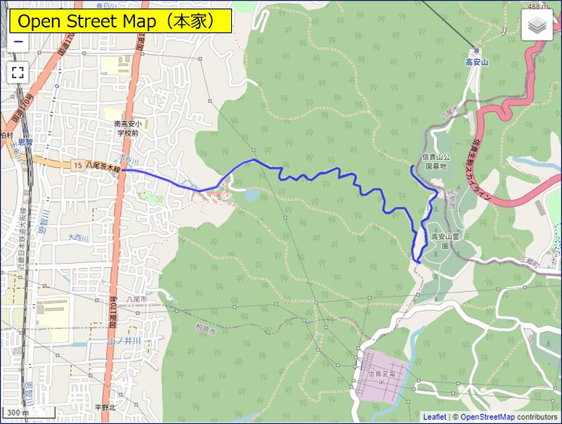 「Open Street Map(本家)」を指定した場合の表示