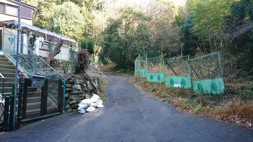 道は、恩智神社の裏側に回り込むように左に曲がっている