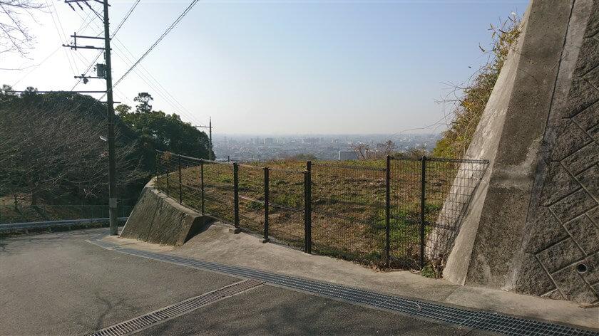 恩智神社横の、ゲキサカからの眺め
