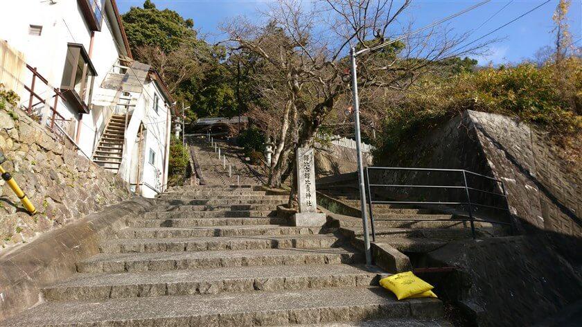 鐸比古鐸比売(ぬでひこ ぬでひめ)神社への階段の脇を右に進むと、「高尾山創造の森」に続く