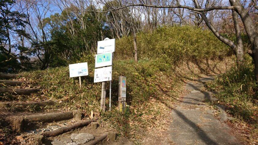 「きぼうの道」をしばらく登ると、「← たにごえの道へ」の標識があり、左に登る