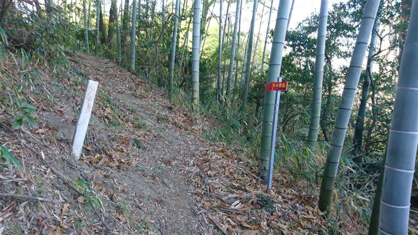 こちらは「← No.2 信貴敷津線」、信貴変電所の南側にでも通じているのか?