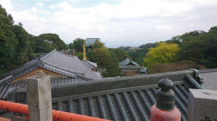 玉蔵院の上からの眺め