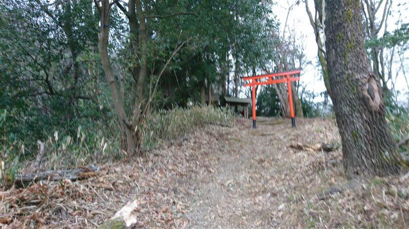 山道への入り口横にある、小さな「神社」への道が綺麗に整備されていた