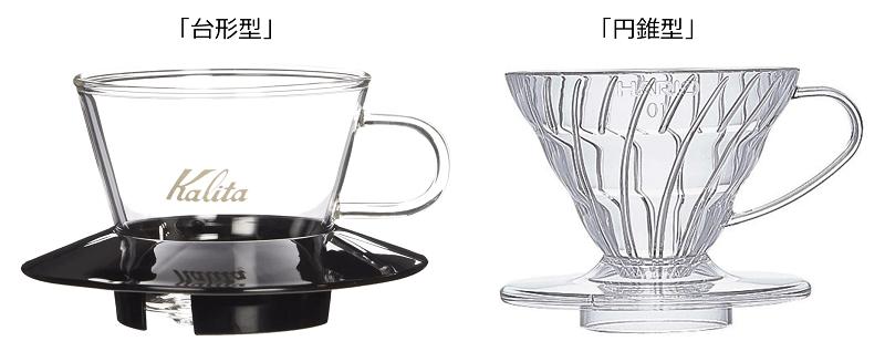 「台形型」と「円錐型」の2種類がある