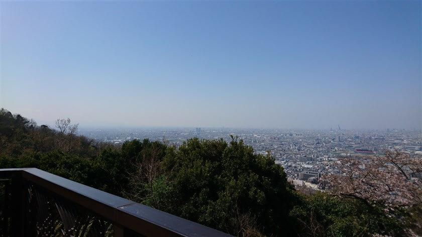 額田山展望台からの眺望:南部