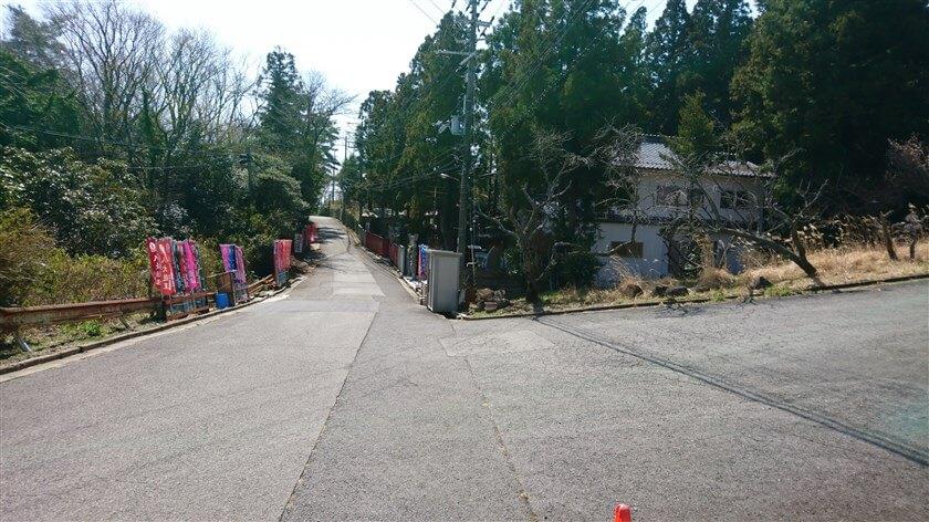 生駒山上遊園地の、外周道路