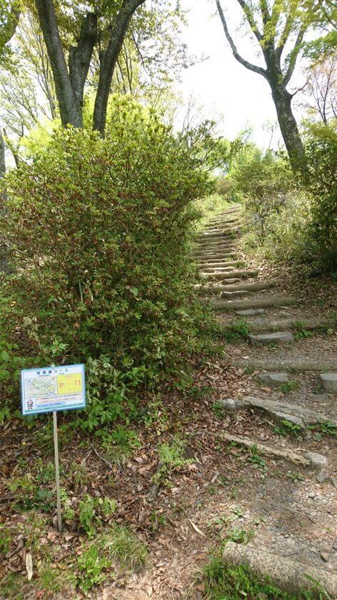 「神津嶽コース」の位置標示標識板「か - 11」