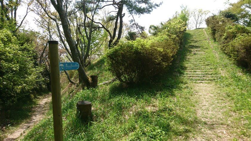 【旗立山】への登り口