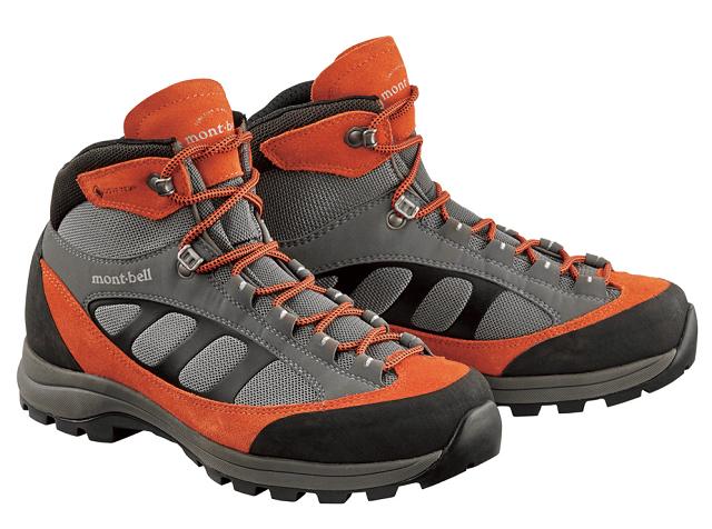 登山靴:monbell ティトン ブーツ ワイド ダークオレンジ
