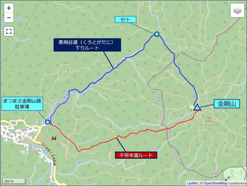金剛山トレッキングルート