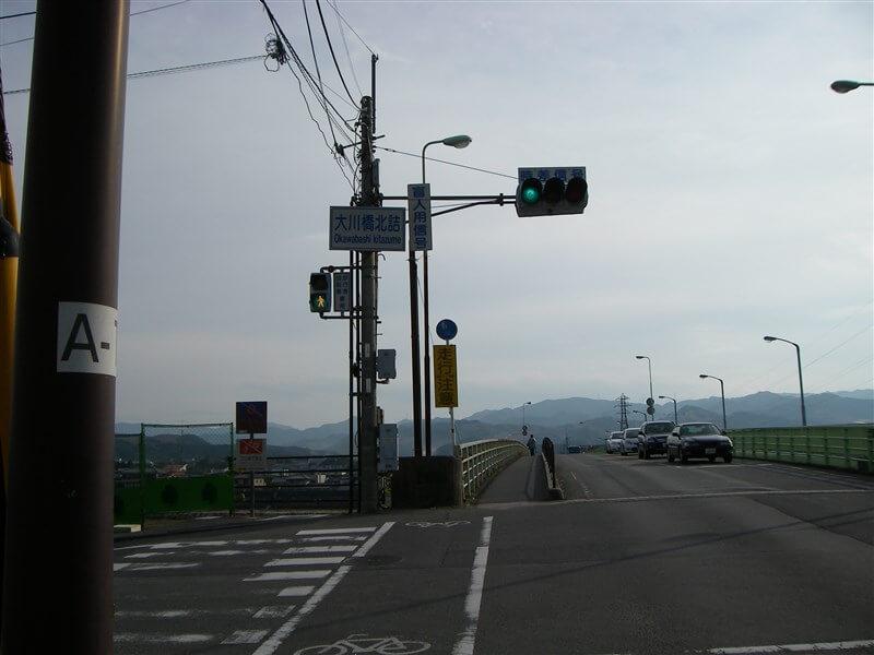 大川橋北詰。吉野川を渡る。