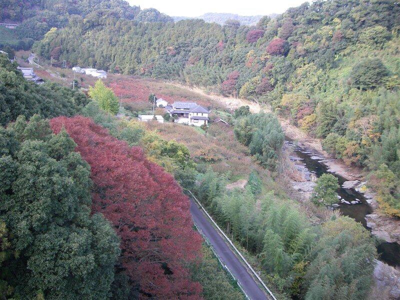 賀名生大橋からの眺め:下流=五條方面
