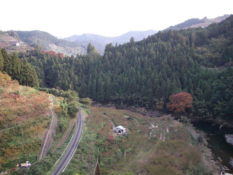 賀名生大橋からの眺め:上流=十津川方面