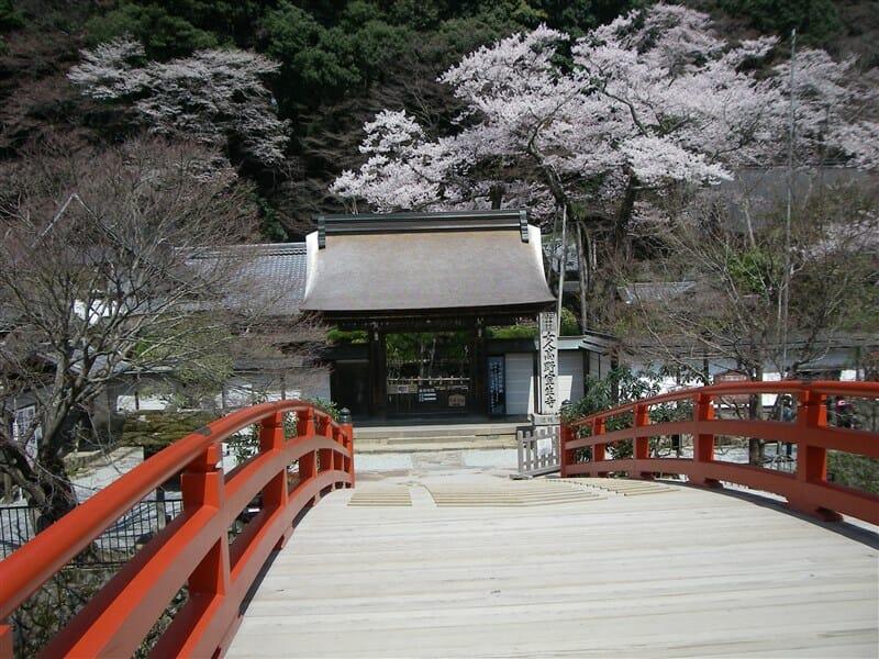 太鼓橋わたると、室生寺の境内に入る