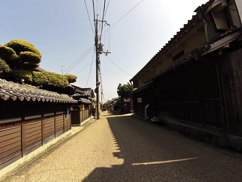 旧街道・竹内集落内の道
