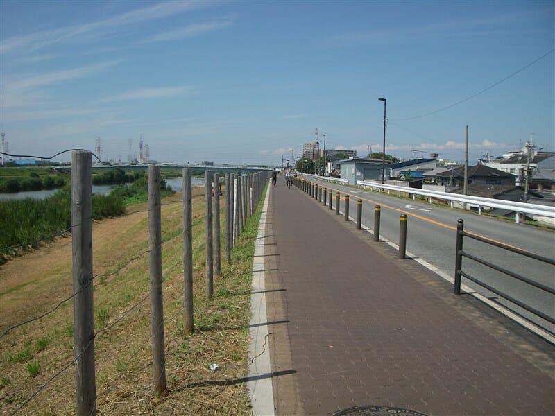 新明治橋の西から川下を望む