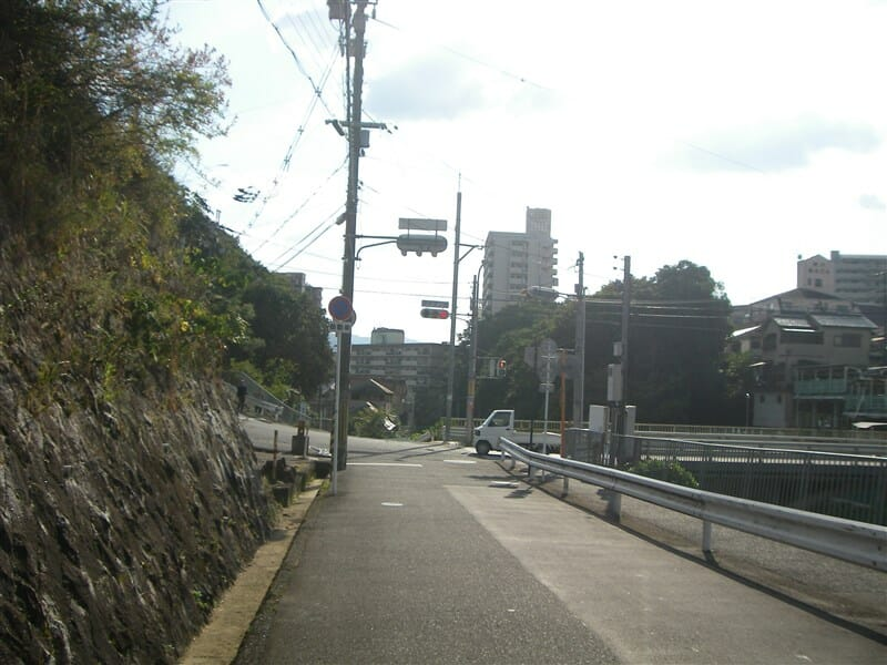 終点の河内長野 R310の信号