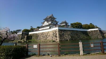 北東から見た岸和田城