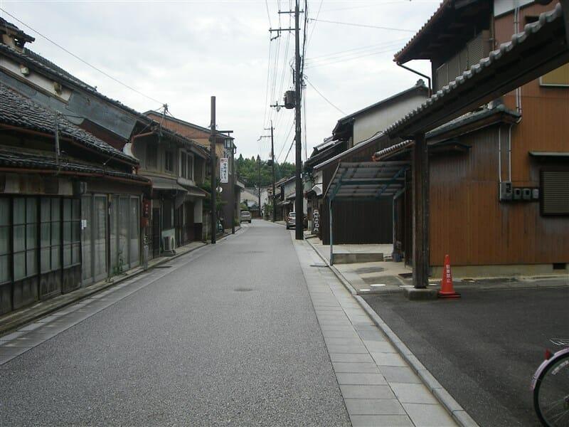 宇陀松山の古い街並み