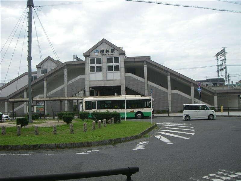 桜井駅南口に到着