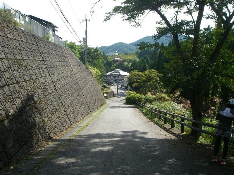 天辻峠から道の駅を見る