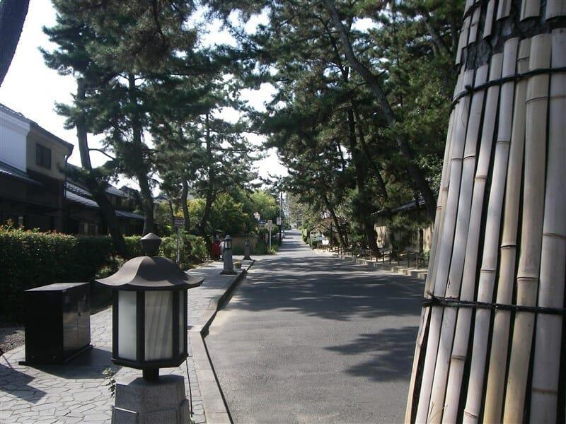 唐招提寺前の通り