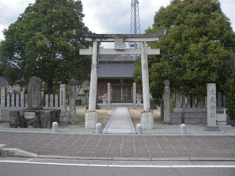 新野駅近くの大歳神社