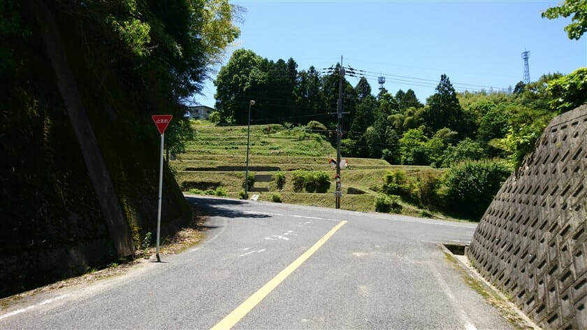 R211西恩寺方面への左折地点
