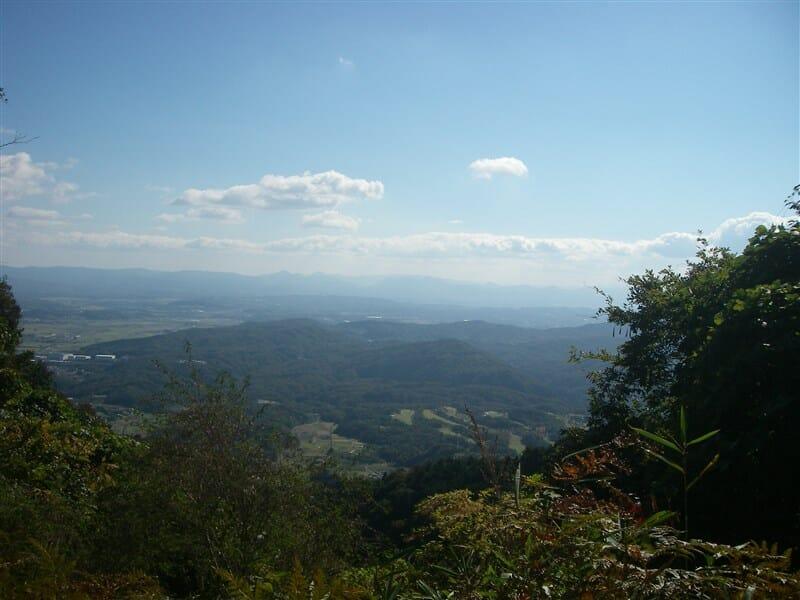 御斎峠から眺める伊賀盆地