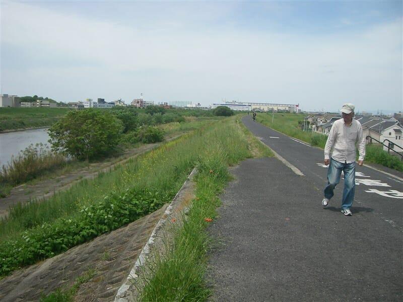 新大井橋を過ぎた辺り