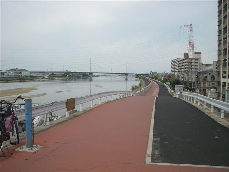 阪堺大橋からの大和川右岸