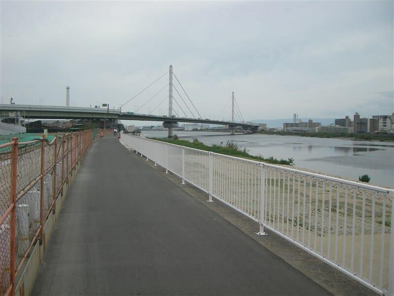 阪堺大橋を再度渡り大和川左岸