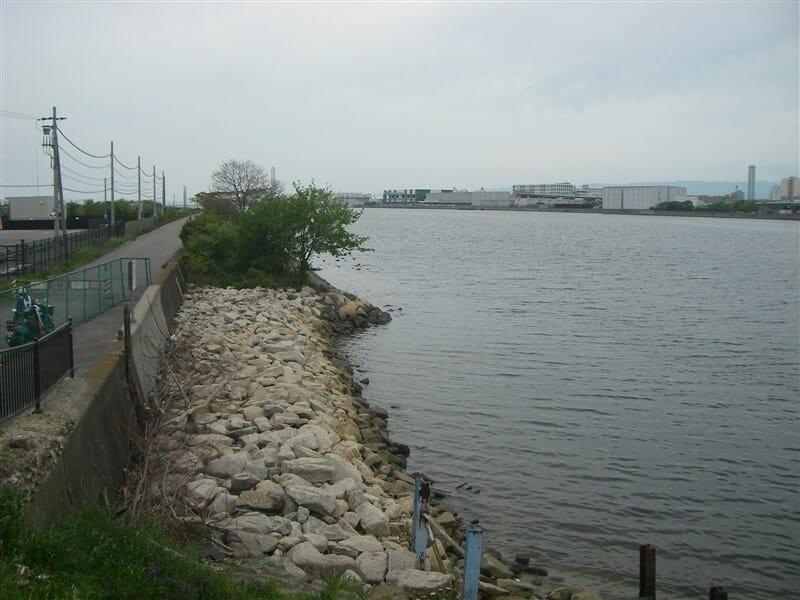 大和川河口を望む