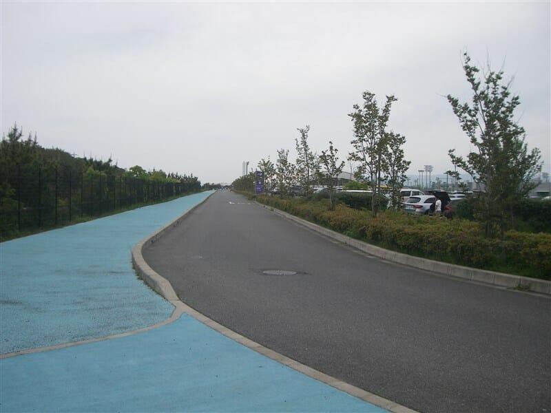 センター内の自転車周回道路