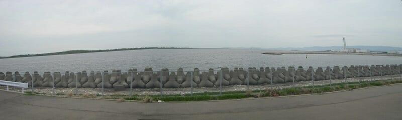 海とのふれあい広場からの、大阪湾パノラマ