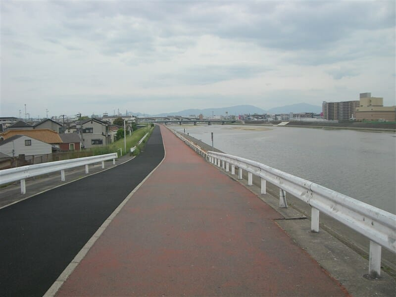 阪堺大橋を渡り再び右岸を帰る
