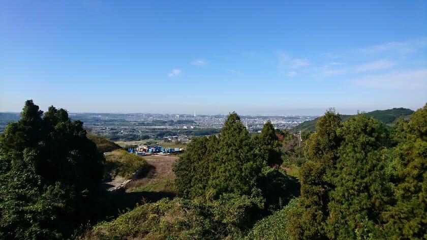 持尾展望台からの眺め