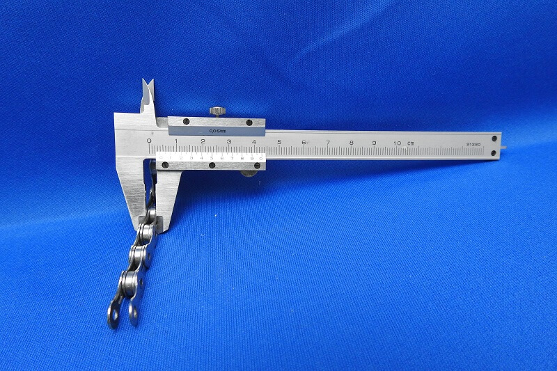 10速 CN-7900 のチェーン幅測定
