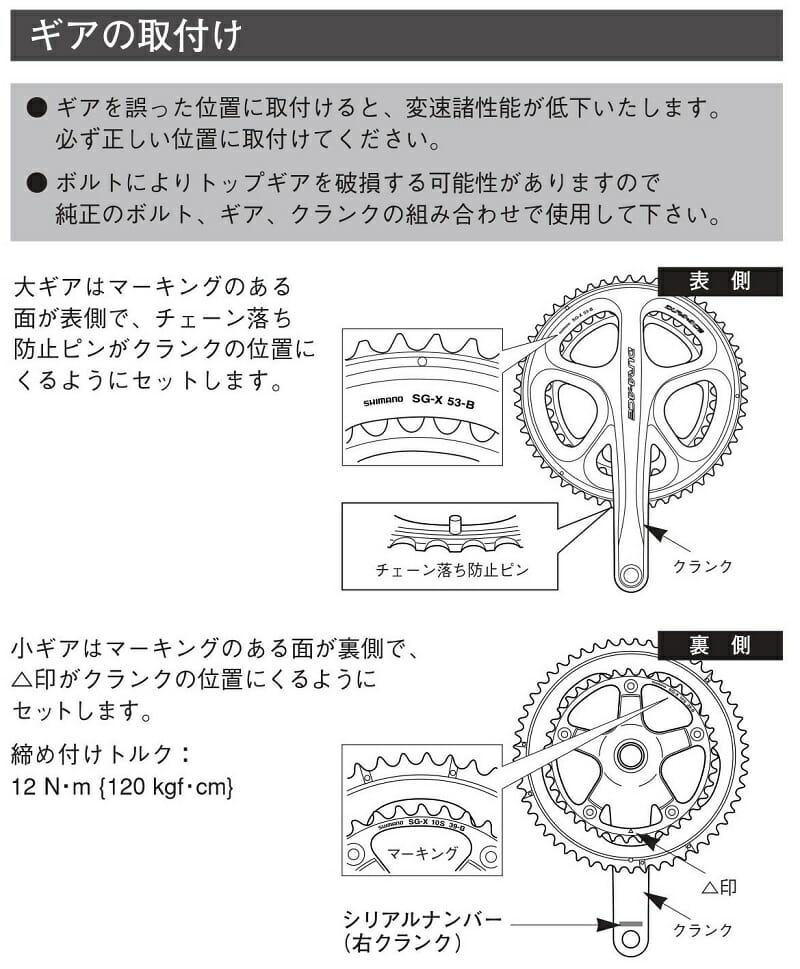 fc-7950 ギアの取付位置図