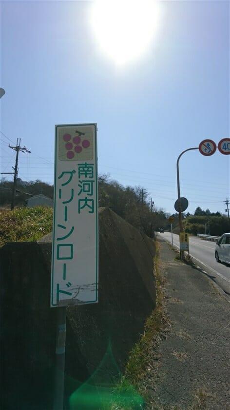 南河内グリーンロード太子町山田付近