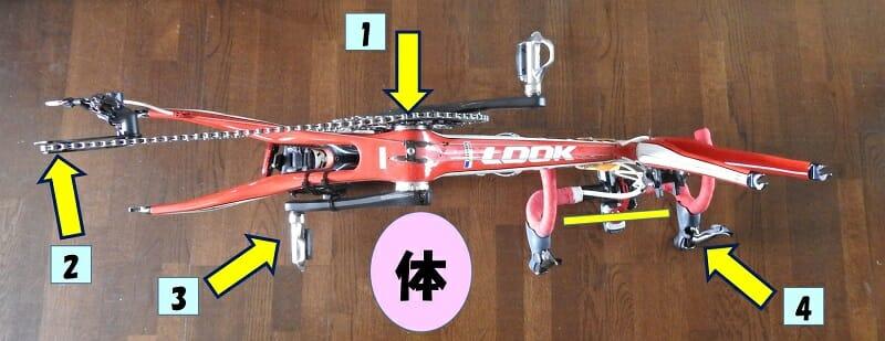 輪行スタイル:バイクの入れ方。