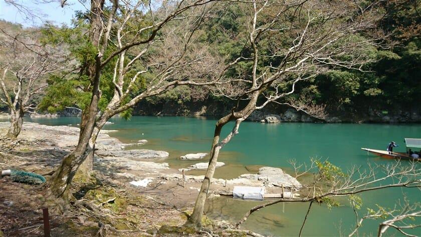 嵐山からの桂川