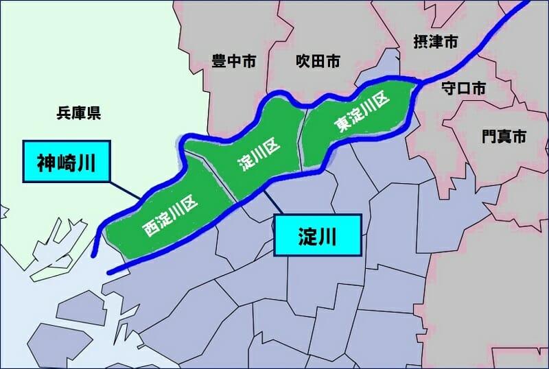 大阪市の北部