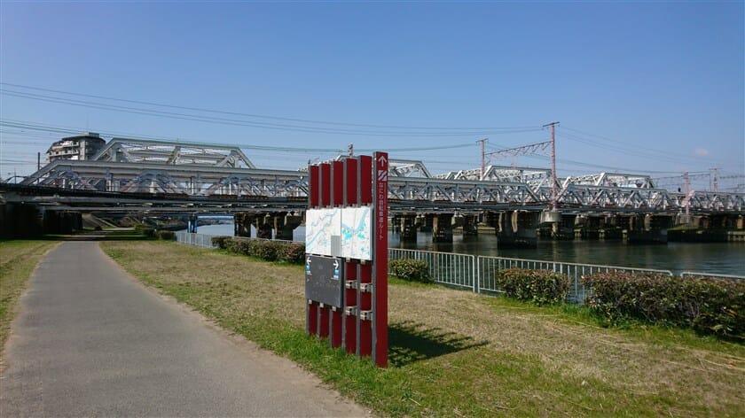 東海道本線の陸橋