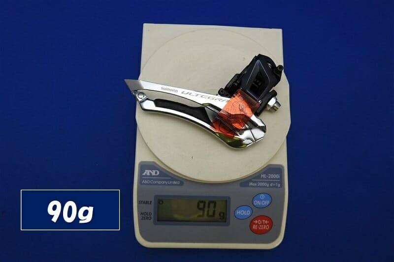 フロントディレイラー FD-R8000 の重量